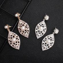 Fashion Earrings Women Crystal Pendientes Mujer Elegant Dangle Earring Jewelry Accesorios Bijoux Aretes Brincos Orecchini Donna