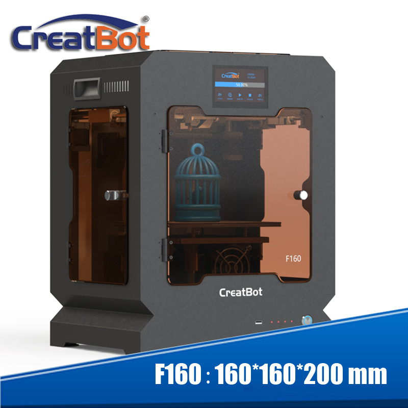 Totalmente cerrado marco de metal pequeño tamaño de construcción 160*160*200mm Creatbot F160 3d impresora para escolares