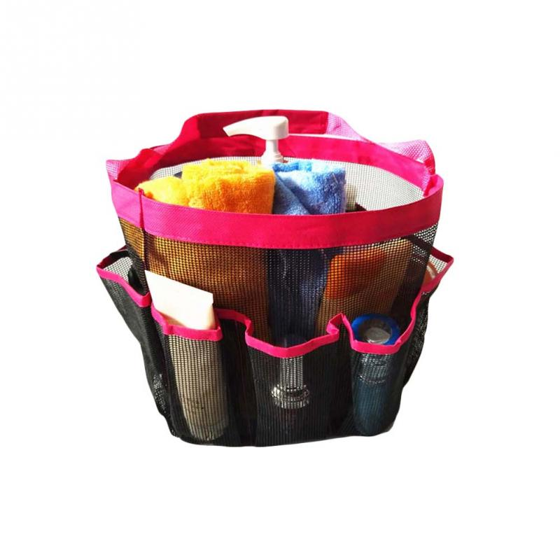 20*20*25cm 8 Pocket shower caddy mesh portable quick dry travel tote ...