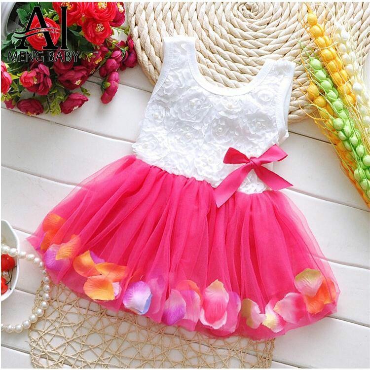 Ai Meng Baby Newborn Baby Girl Dress Summer Brand Children's Clothing Girls Clothes 1 Year Birthday Party Dress Vestido Meninas
