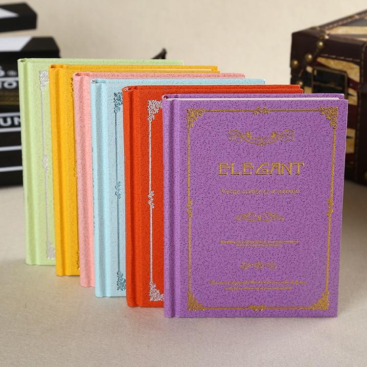 2017 Retro högkvalitativ pappers anteckningsbok anpassad trådlös bindning presentpapper hårdvara notebook dagbok