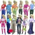 10 комплект = одежда брюки или платье комплект куртка наряд одежда пиджаки костюм комплект пальто для barbie кукла