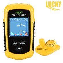 Lucky портативный рыболокаторы беспроводной рыбы ультразвуковой сенсор 120 м красочные ЖК дисплей глубинный гидролокатор Для Рыбалка подводный Fishfinder