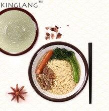 1PC Japanese Restaurant  Plastic Melamine Soup Bowl Solid 2 -colors Black And Red Double Color Noodle bowl Hot Sale