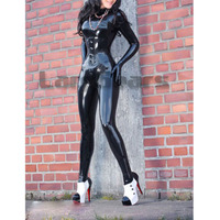 Latex Catsuit Bodysuits With Gloves And Socks And Corset