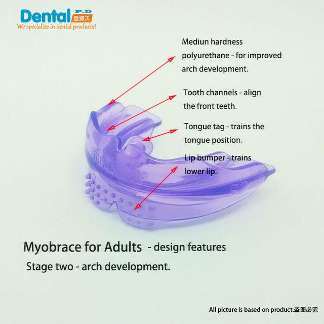 Fanfarrão dentes para Adultos Dente Ortodontia Appliance Instrutor de Alinhamento Suspensórios Boquilhas Dentes Retos/Alinhamento Para Adultos