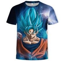 Mens  T Shirt Dragon Ball Z Ultra Instinct Goku Super Saiyan God Blue Vegeta 3D Print Cartoon Summer Top T-shirt 5XL