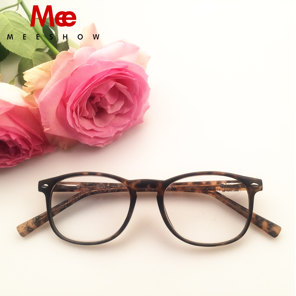 MEESHOW Fashion Reading Glasses High quality CP Injection Eyeglasses Men Women +1.5 Tortoise Reading Eyeglasses Glasses R1183