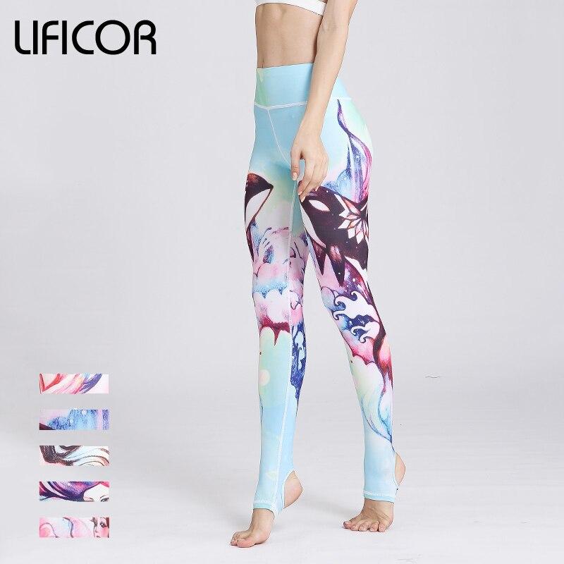 Новый Для женщин Фитнес леггинсы сексуальные брюки йоги тонкий бег спортивные брюки женс ...