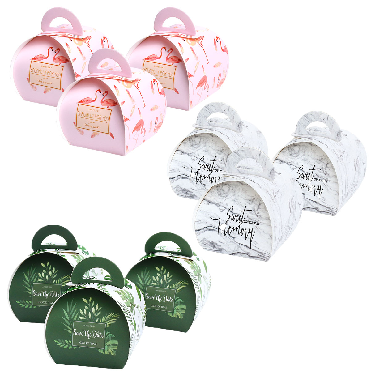 Wedding Favors and Paper Gift Boxes with Handles Candy Gift Bag Package Bags Cake Box Birthday Party Decoration Supplies