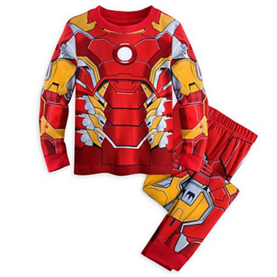 2019 The Avengers Iron Man Children Pajamas Sets Captain America Sleepwear Boys Super Cool Spring Autumn Long Sleeve Pyjamas set 3