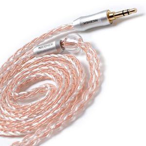 Image 2 - NICEHCK 8 жильный Медный Серебряный смешанный кабель MMCX/2Pin 3,5/2,5/4,4 мм сбалансированный для C12 C16 ZS10 ZSX V90 TFZ NICEHCK NX7 Pro/DB3/F3/M6