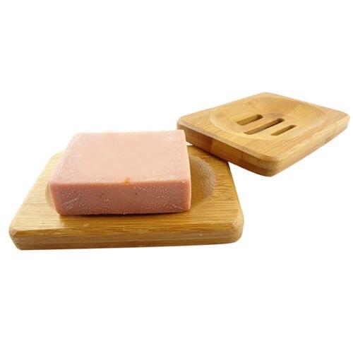 1 sztuk naturalne drewno bambusa łazienka prysznic tacka na mydło do przechowywania naczyń talerz zestawy akcesoriów łazienkowych