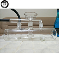 2016 More Stable Clear Glass MP5 Hookah Shisha Hookah With Bowl Glass Pipe And Silicon Hose