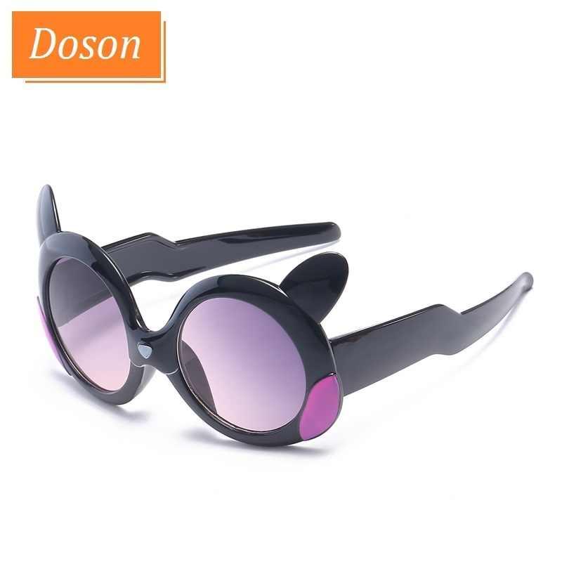 Bonito Dos Desenhos Animados das Crianças Óculos de sol Óculos Moda Lente Gradiente Quadro óculos de Sol Da Menina do Menino de Segurança Flexível Tons UV400