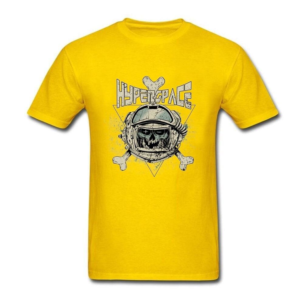 Design t shirt with illustrator - Men S Hyper Space Skull Tee Shirt Cool Designer Short Sleeves O Neck Print Pure Cotton Illustration Skeleton Bone Casual Tshirt