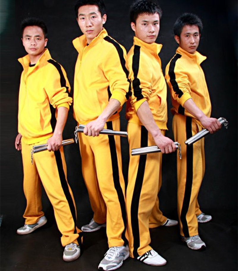 Sports Teams Apparel Kung Fu Uniform For Women Men Boys Activewear Tracksuit Set Sportswear Game Of Death Cosplay Costume Kids