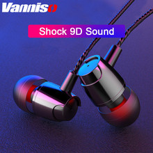 Vanniso 3.5mm Stereo in-Ear Earphones with Microphone Earbuds Music headset For computer Samsung huawei iphone Xiaomi