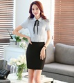 New Professional Formal OL Styles Ladies Summer Work Suits Tops And Skirt Business Women Outfits Shirts With Skirt Suits