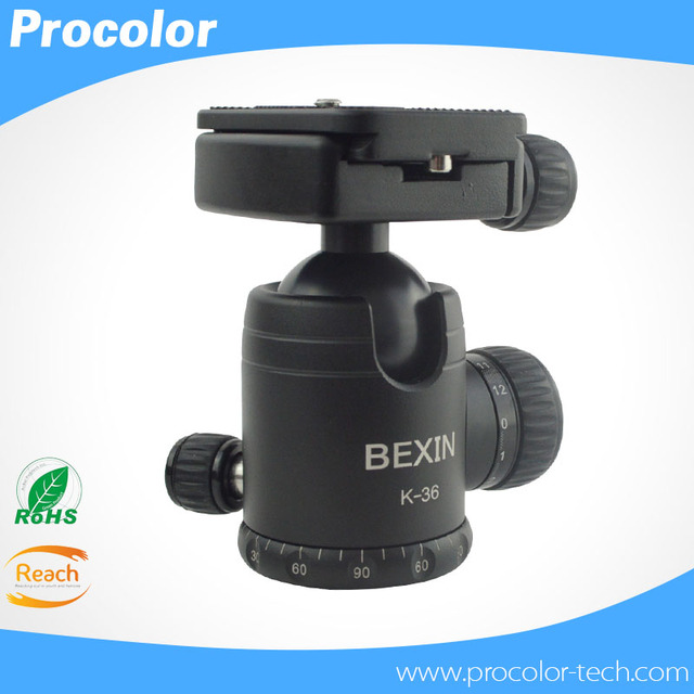 Aluminum Alloy Camera Tripod Tripe ballhead Ball Head With Quick Release Plate & levels Maximum Load 10KG for Pro Camera Tripod