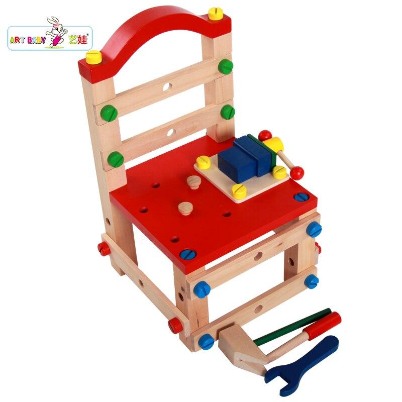 holz kinder werkzeug Holzspielzeug werkzeug sets stuhl nNPX8Zk0wO