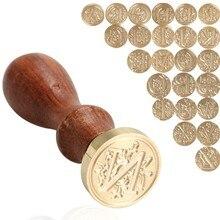 רטרו שעוות חותם חותמת 26 מכתב AZ אלפבית מכתב עץ חותמת להחליף נחושת ראש תחביב כלים סטי איטום שעווה