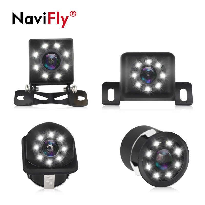 Navifly Автомобильная камера заднего вида Авто парковочный монитор CCD Водонепроницаемая Универсальная автомобильная камера Универсальная Резервная парковочная камера 8LED