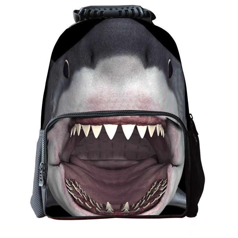 16-inch Animal Bag Shark Backpack Animal Prints Cool Boys Backpacks For  School Casual Children School Bags Mochila Infantil ca10fc7dae