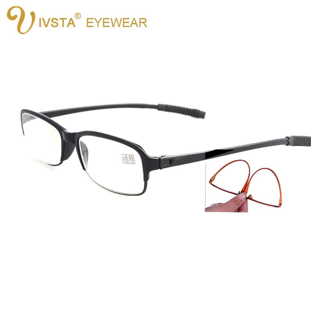 IVSTA Böjbara läsglasögon för män TR90 Mjuka anti-böjande hartslinser gamla människor + 1.00 + 1.5 + 2.0 + 2.5 + 3.0 + 3.5 + 4.0 8002