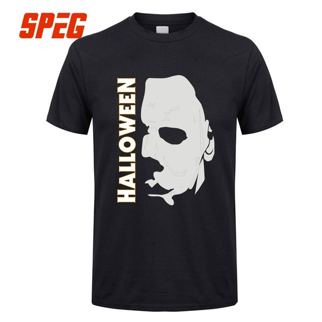 Retro T Shirts Halloween Michael Myers Mask And Drips T ...