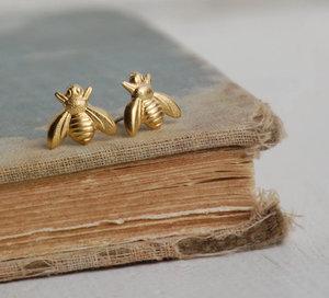 Image 3 - 30 זוגות אופנה דבש דבורת עגילי זעיר דבורת דבש צרעה עגילי וודלנד חרקים טוס ציפור דבש Bumble Bee stud עגילים