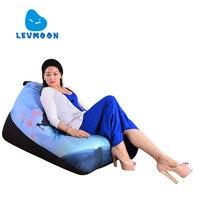 LEVMOON Beanbag Sofa Chair Magic Beauty Zac Comfort Bean Bag Bed Cover Without Filler Cotton Indoor