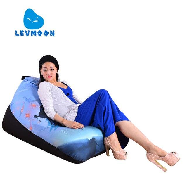LEVMOON Beanbag Cadeira Do Sofá Beleza Mágica Zac Conforto de Algodão Tampa de Cama do Saco de Feijão Sem Enchimento Interior Beanbag Espreguiçadeira