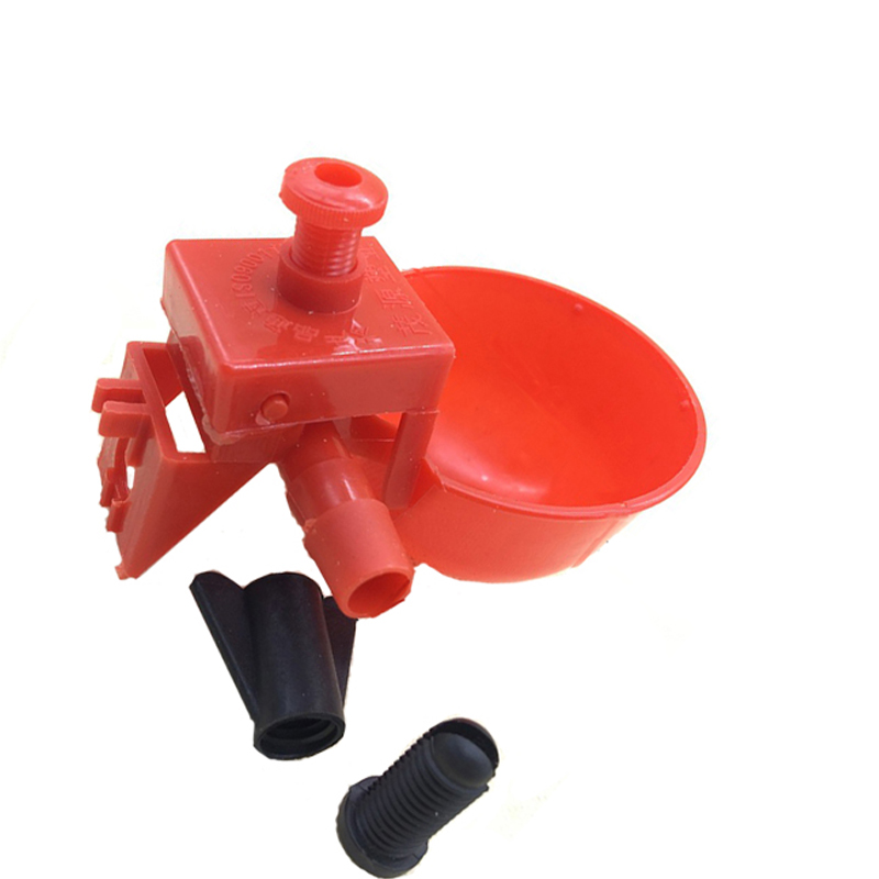 10Set Chicken Waterer Hens Quail Birds Drinking Bowls Water for Chicken Coop Chick Nipple Drinkers Poultry Farm Animal Supplies in Feeding Watering Supplies from Home Garden