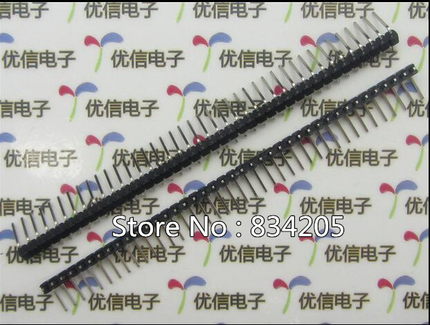 Connectors & Terminals Free Shipping Smd 2.54mm 2*40p Pin Header Double Row 90 Degrees Bent Iron Needle