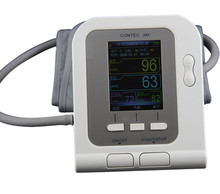 Arm Blood Pressure Monitor Tensiometro Tonometer Sphygmomanometer Monitor with USB cable +PC software Contec08A(China (Mainland))