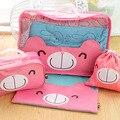 Saco Cosmético rosa Estilo Bonito Viagens de Negócios Essencial Kit produtos de Higiene Pessoal Saco de Lavagem de Viagem Feminino Saco Organizador À Prova D' Água Do Produto