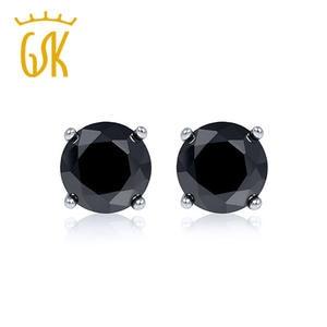 5fc9340eedd31a Gem stone king Natural Diamond Stud Earrings For Women