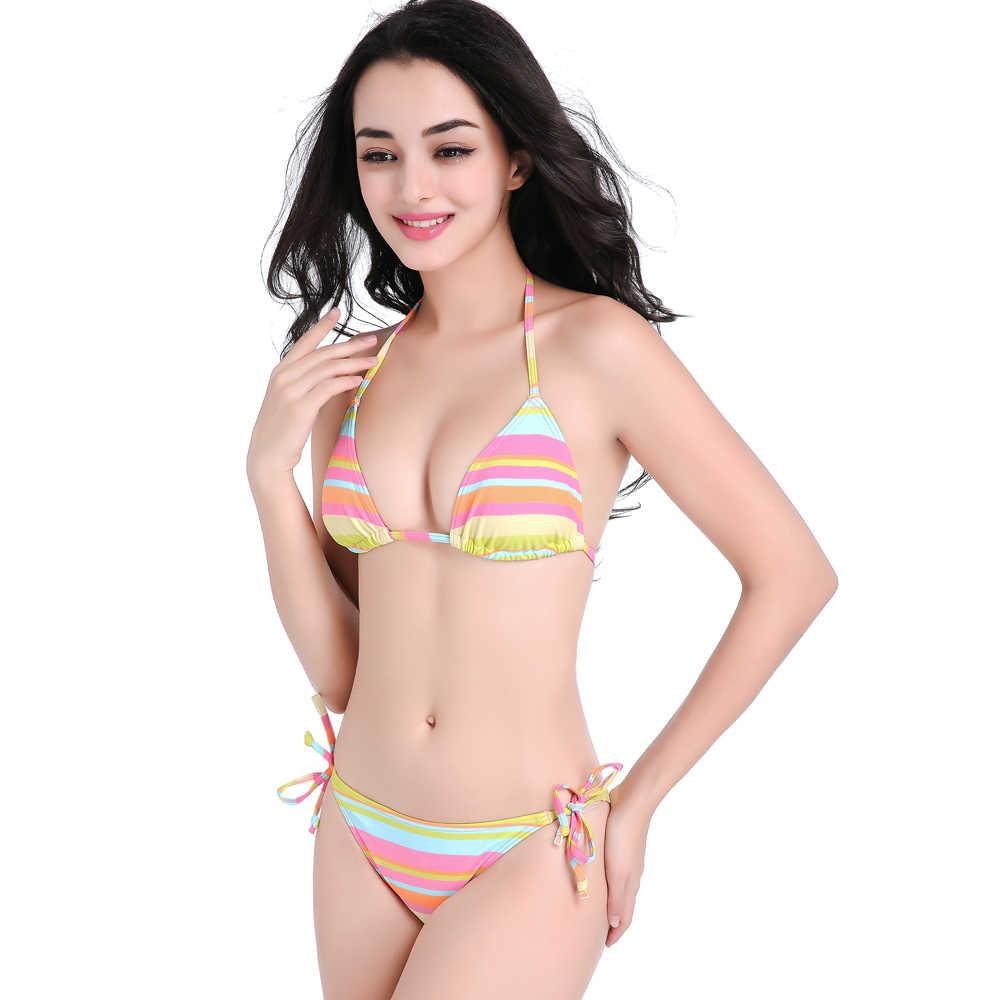 f94265b94ef ... Two piece 2017 latest baby bodysuit strappy low waist S M L XL bikinis  in bulk swimsuit Bathing ...