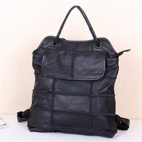 2014 New Fashion Leisure First Layer Leather Stitching Package Multi Purpose Portable Female Bag Free Shipping