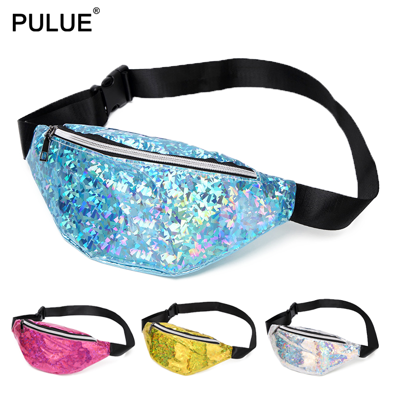 Like Diamond Shining Laser Waist Bag 2019 New Unisex Outdoor Leisure Sports Chest Pack Sequins Hip Bag Women Satchel Waist Packs