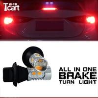 Tcart Red Brake stop light WY21W/ PY21W/ 7440/7443/3156/3157/ 20W LED Car Rear Turn Signals + Break light All in one
