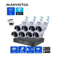 4CH Беспроводная система безопасности 1080 P ip камера Wifi DVR комплект системы видеонаблюдения комплект видеонаблюдения Всепогодный