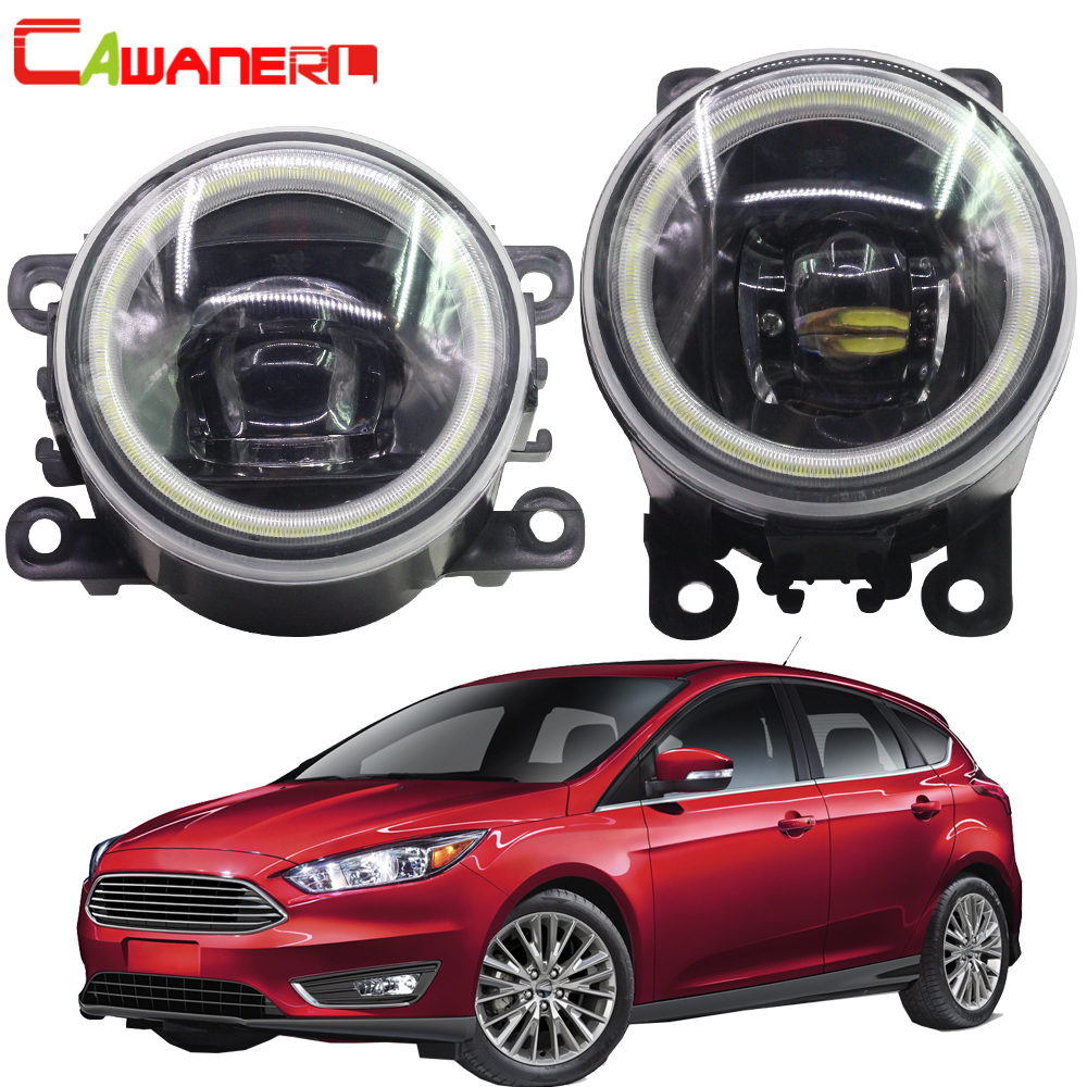 Cawanerl For 2004 2015 Ford Focus MK2 MK3 Car Styling 4000LM LED Lamp H11 Fog Light