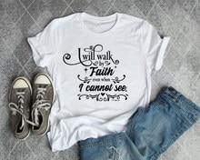Andar na fé hipster baptismo cristão personalidade instagram inspirador t camisa slogan moda feminina gráfico tumblr camisetas