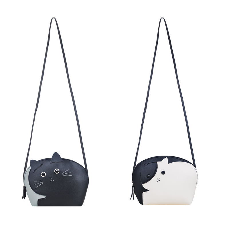 62809aca36ea Detail Feedback Questions about HISUELY Summer Ladies Handbag White Black  Cute Cat Shape Shoulder Bag PU Leather Women Messenger Crossbody Small Bag  Preppy ...