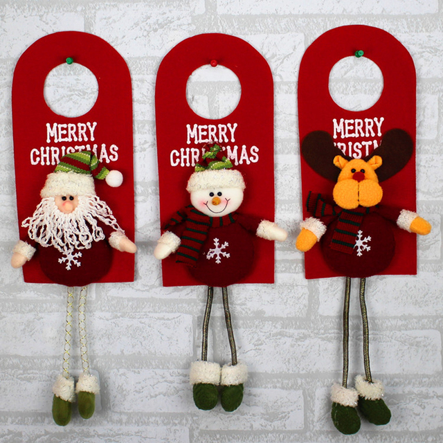Smiry 1pc Christmas Ornaments Christmas Tree Santa Claus Pendants Drop Christmas Decorations For Home Decoracion Wide 12cm