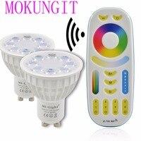 Dimmable Mi Light 2 4G 4W GU10 MR16 RGB CCT WW CW Color Change LED Spotlight