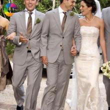 Серые мужские костюмы изготовленные на заказ пляжные свадебные