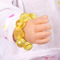 Doll accessories ,Yellow Crystal Beads Bracelet fit 43cm Baby Born zapf, Children best Birthday Gift A27